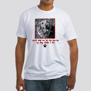Thinking Dog Fitted T-Shirt