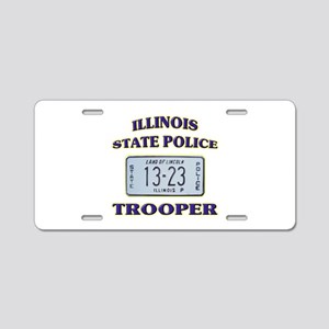 Illinois State Police Aluminum License Plate