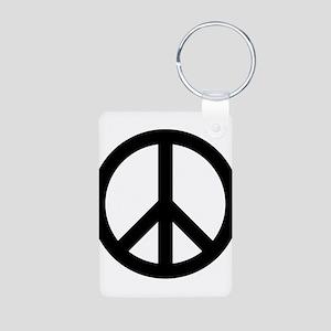 Peace Sign Aluminum Photo Keychain