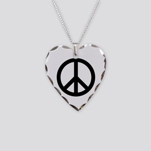 Peace Sign Necklace Heart Charm