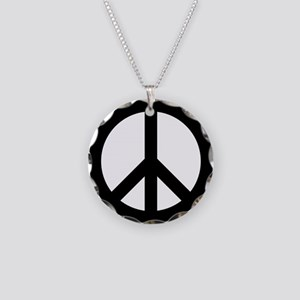 Peace Sign Necklace Circle Charm