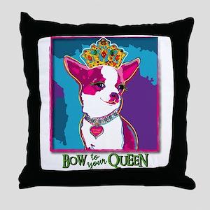 Chihuahua Queen Throw Pillow