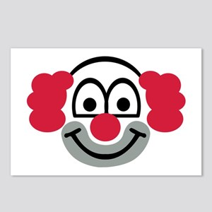 Clown face Postcards (Package of 8)