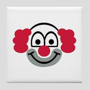 Clown face Tile Coaster