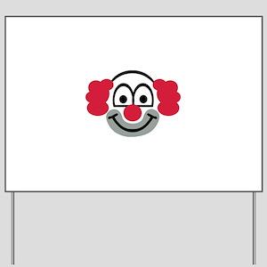 Clown face Yard Sign