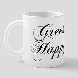 Greek Wife Happy Life Mug