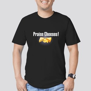 Praise Cheeses! Men's Fitted T-Shirt (dark)