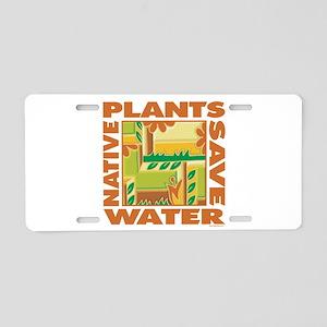 Native Plant Landscaping Aluminum License Plate