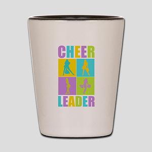 Colorful Cheerleaders Shot Glass