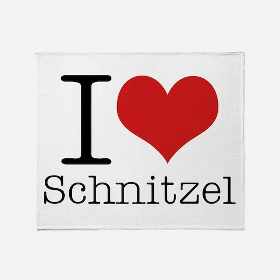 I {heart} Schnitzel Throw Blanket