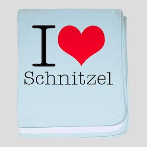 I {heart} Schnitzel baby blanket