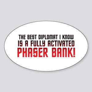 Phaser Bank Sticker (Oval 10 pk)