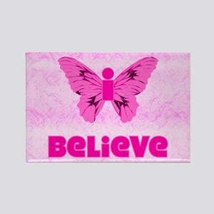 iBelieve - Pink Rectangle Magnet