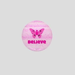 iBelieve - Pink Mini Button