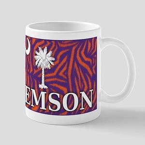 Clemson Tiger Print Flag Mug