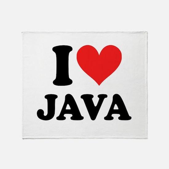 I Heart Java: Throw Blanket