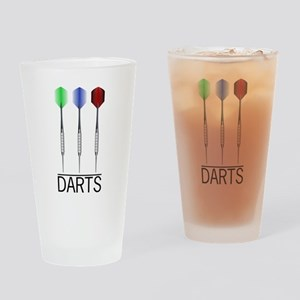 3 Darts Drinking Glass