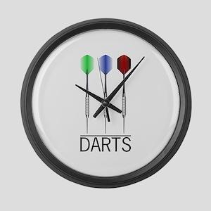 3 Darts Large Wall Clock