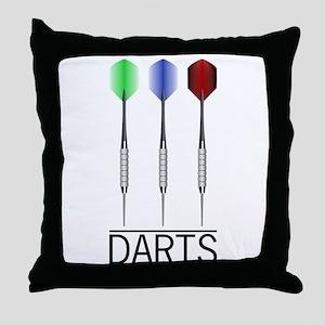 3 Darts Throw Pillow