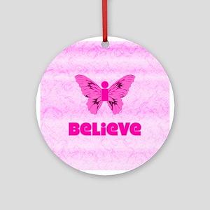 iBelieve - Pink Ornament (Round)