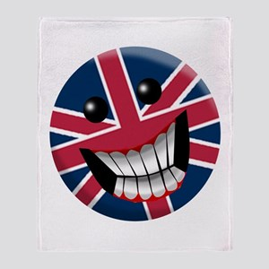 British Smile Throw Blanket
