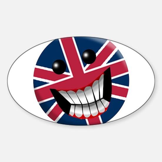 British Smile Sticker (Oval)