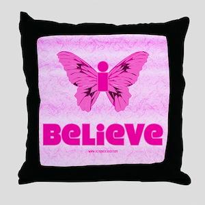 iBelieve - Pink Throw Pillow