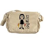 Broken Goth Doll Messenger Bag