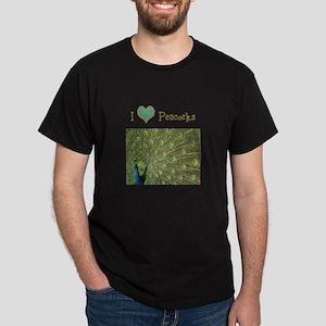I Love Peacocks Dark T-Shirt