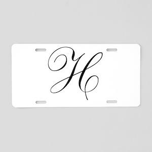 H's Aluminum License Plate