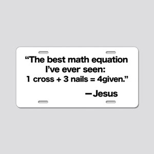 Best Math Equation Aluminum License Plate