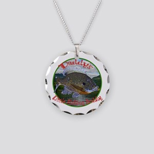 Daddys fishing buddy Necklace Circle Charm