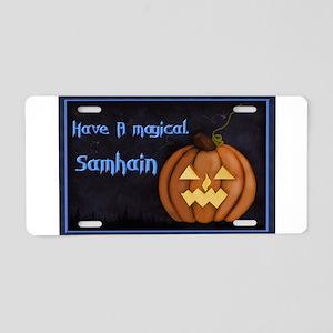 Samhain Halloween Aluminum License Plate