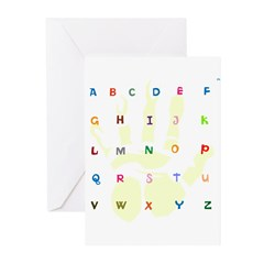 OYOOS Alphabets design Greeting Cards (Pk of 10)