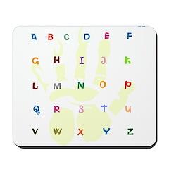 OYOOS Alphabets design Mousepad