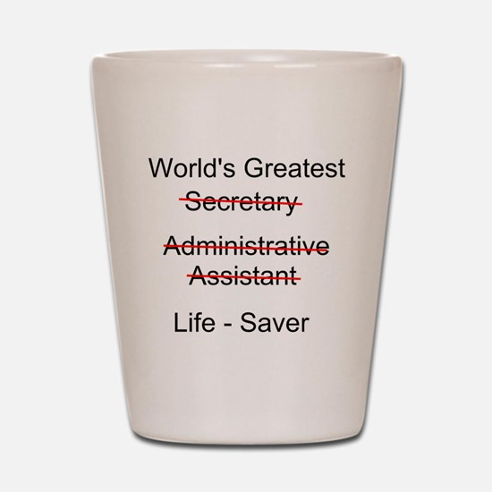 World's Greatest Secretary Shot Glass
