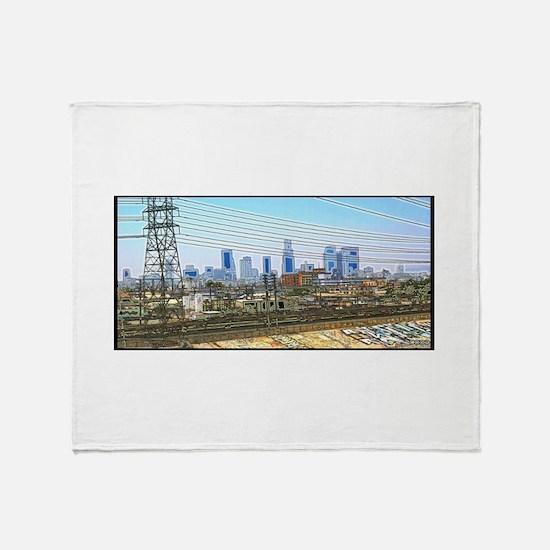 """Los Angeles, """"Hella"""" Throw Blanket"""