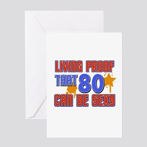 Cool 80 year old birthday design Greeting Card