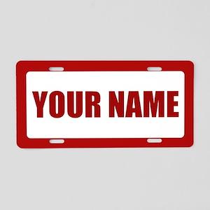 Custom Name Aluminum License Plate