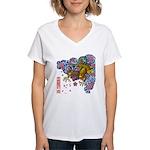 nue cherry Women's V-Neck T-Shirt