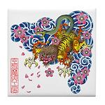 nue cherry Tile Coaster