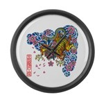 nue cherry Large Wall Clock