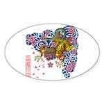 nue cherry Sticker (Oval)