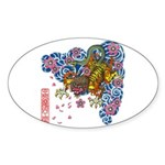 nue cherry Sticker (Oval 10 pk)