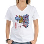 carp cherry Women's V-Neck T-Shirt
