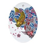 carp cherry Ornament (Oval)
