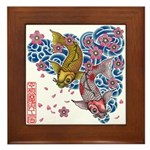 carp cherry Framed Tile