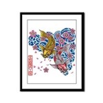 carp cherry Framed Panel Print