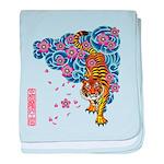 tiger cherry baby blanket