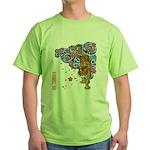 tiger cherry Green T-Shirt